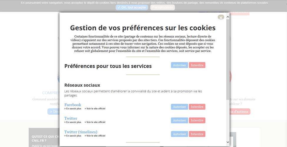 rencontre violation du site Web